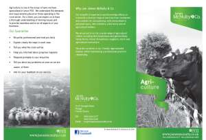 Agriculture, Farming and Rural Law leaflet