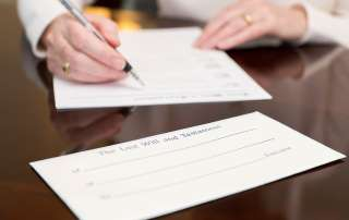 woman drafting a will