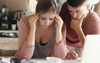 Couple stressed out over debt
