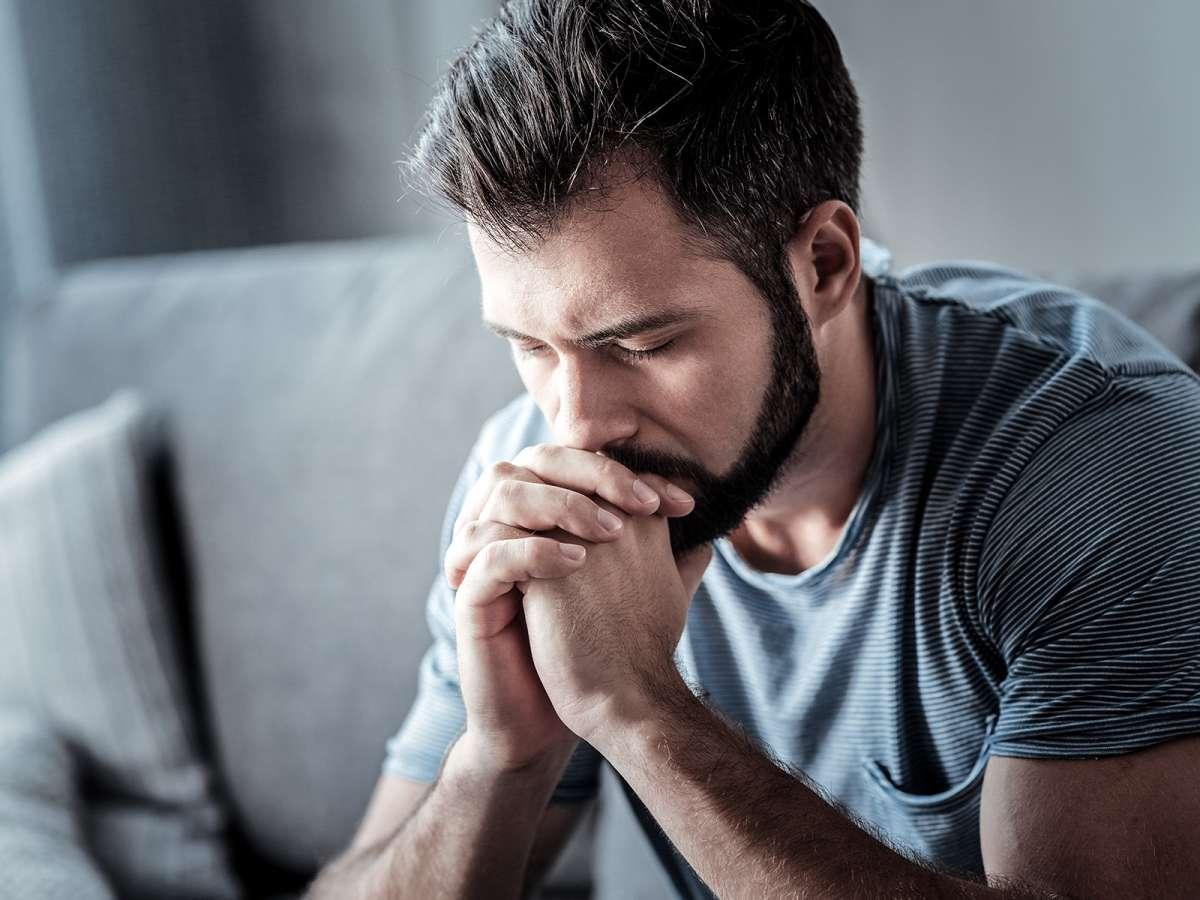 A grieving man