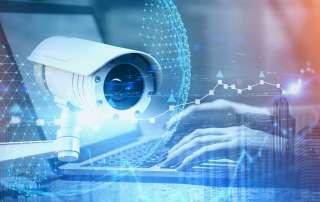 CCTV & Laptop Security Concept